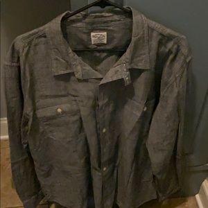 Men's chambray button down size XL